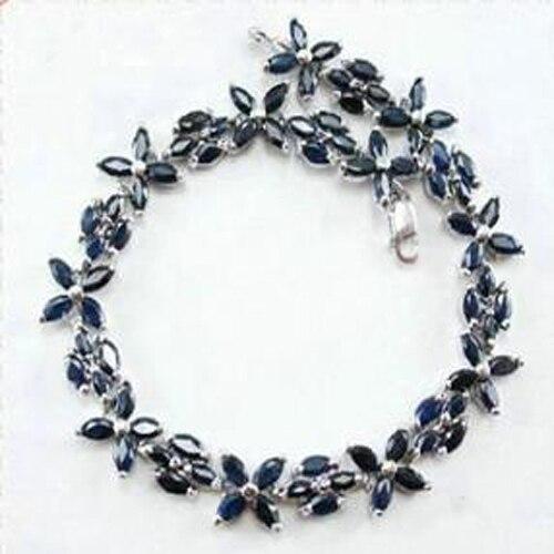 Реальный Qi Xuan_Free темно-синий камень элегантные Bracelets_S925 чистого серебра модные Bracelets_Manufacturer прямые продажи