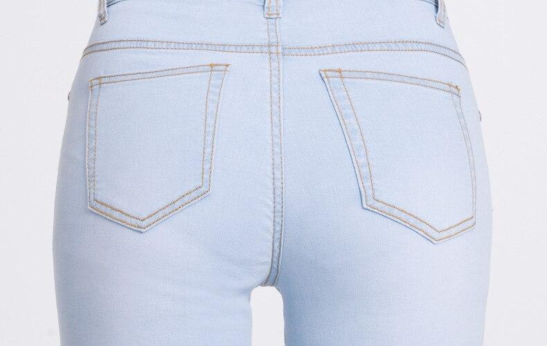 KSTUN hight waist jeans woman bell bottom emboridered denim pants push up net designer women slim fit gloria+jeans plus size 36 20