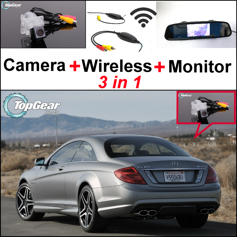 3in1 Special WiFi Camera + Wireless Receiver + Mirror Monitor Rear View Parking Back Up System For Mercedes Benz C Class MB W204 liislee 3in1 special camera wireless receiver mirror screen diy rear view parking system for mercedes benz mb b class w245
