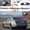 3in1 Special WiFi Camera + Wireless Receiver + Mirror Monitor Rear View Parking Back Up System For Mercedes Benz C Class MB W204