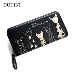 Dudini europe women cat cartoon wallet long creative female card holder casual zip ladies clutch pu.jpg 250x250