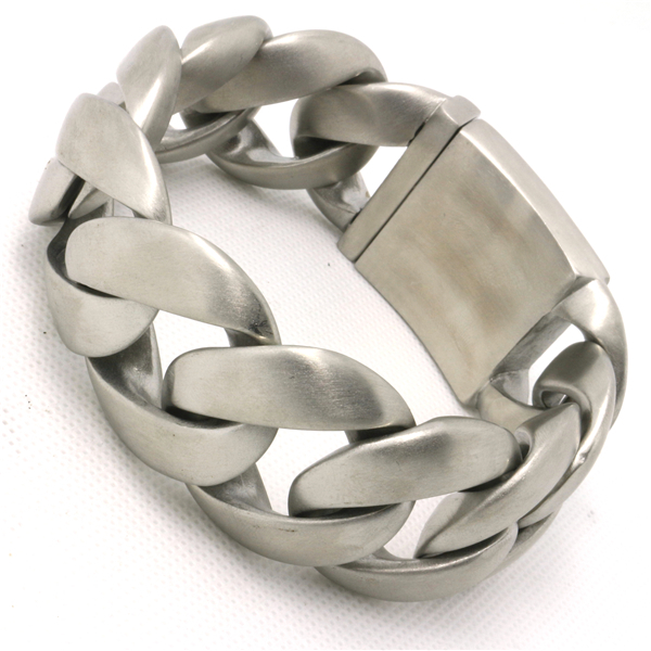 Saint valentin cadeau 31mm énorme & lourd Bracelets & Bracelets terne polonais hommes Biker chaîne en acier inoxydable Bracelet
