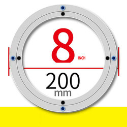 Ss H8INCH/20 سنتيمتر od أثاث اكسسوارات كسلان سوزان الألومنيوم لوحة قطب