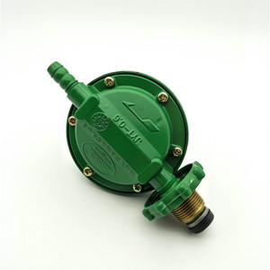 Image 4 - 1 Inlet 1 Outlet 1/2PT Thread Liquefied LGP Gas Gauge Pressure Regulator Green