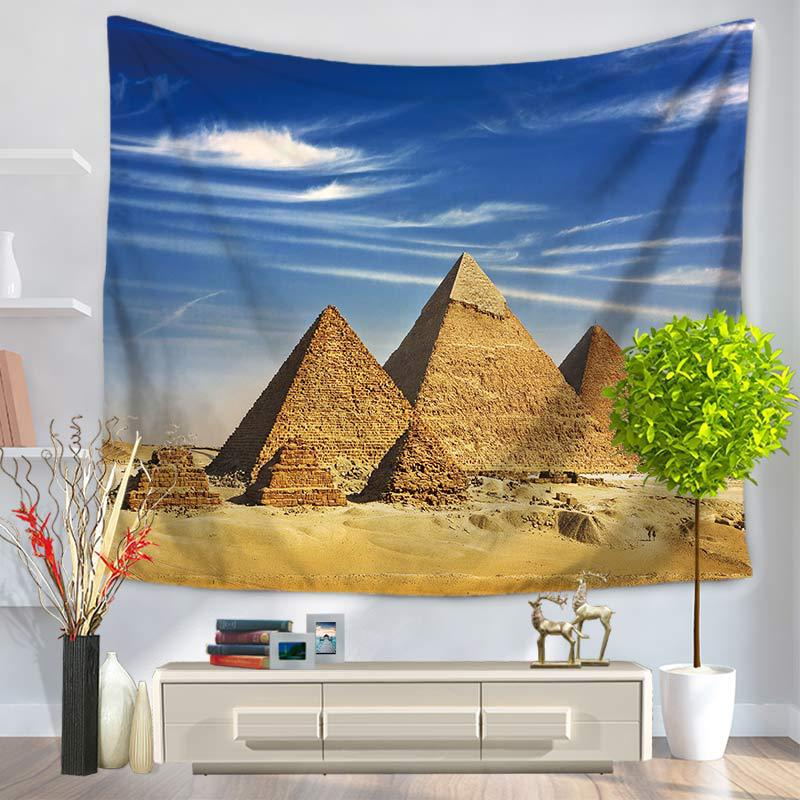Tapestry Wall Hanging Hippie Egyptian Pyramids Mandala Bedspread Ethnic Throw Art Yoga Mat Home Decor Wall Rugs Indian TAP171