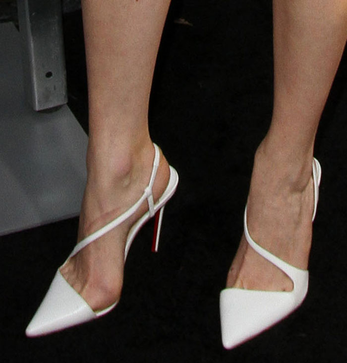 ФОТО High Quality Classics Women Shoes Pumps High Heels White Pointed Toe Genuine Leather Dress Shoes