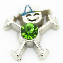 hot selling 10pcs/lot little boys august birthstone floating charms for glass floating lockets