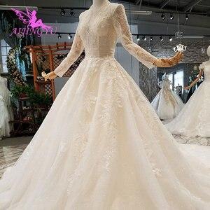 Image 3 - AIJINGYU Wedding Dresses Bridal Gown Vintage Lace Off the Shoulder India Plus Size Modest Gown Vintage Bride Dress