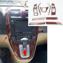 9PCS Shift Gear Panel Frame DASHBOARD GPS Cover Trim For Honda CRV CR-V 07-11