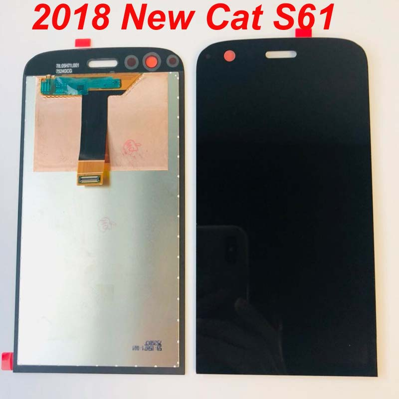 Original For Caterpillar Cat S61 LCD Display Touch Screen Replacement Digitizer Assembly For Cat S61 S61