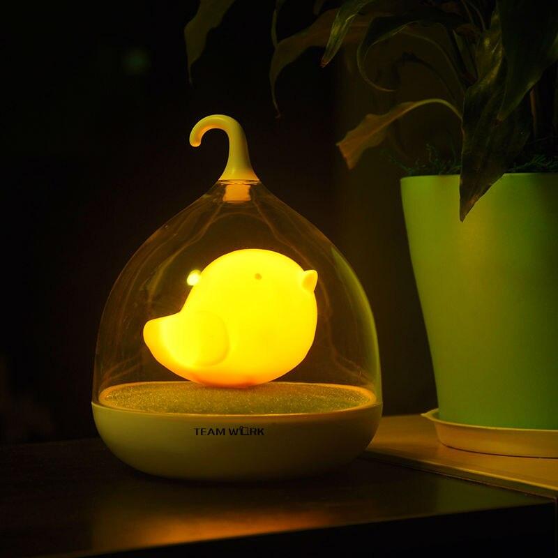 Creatieve Vogel LED Nachtlampje Oplaadbare Touch Dimmer Sensor ...