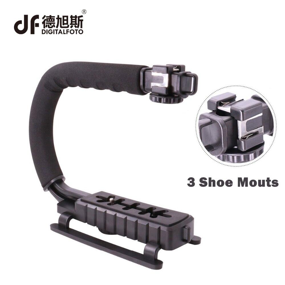 DIGITALFOTO Ulanzi U-Grip DSLR poche caméra stabilisateur DV smartphone vidéo steadycam rig avec Triple Shoe Mount pour entrevue
