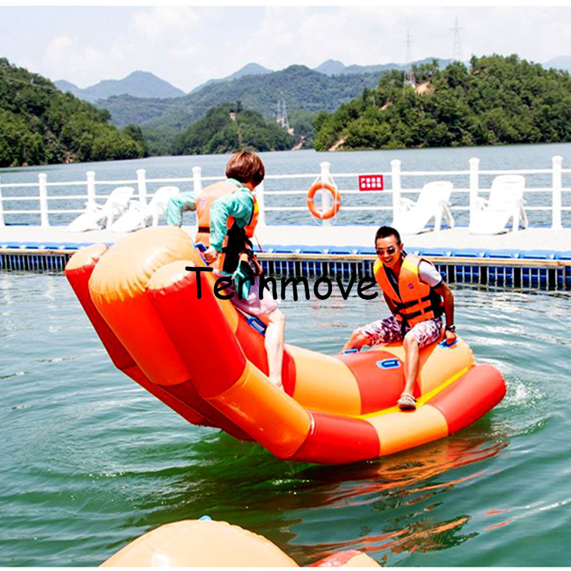 inflatable water floating seesaw for water park for water sports pvc air water totter single line double lines seesaw rockerinflatable water floating seesaw for water park for water sports pvc air water totter single line double lines seesaw rocker