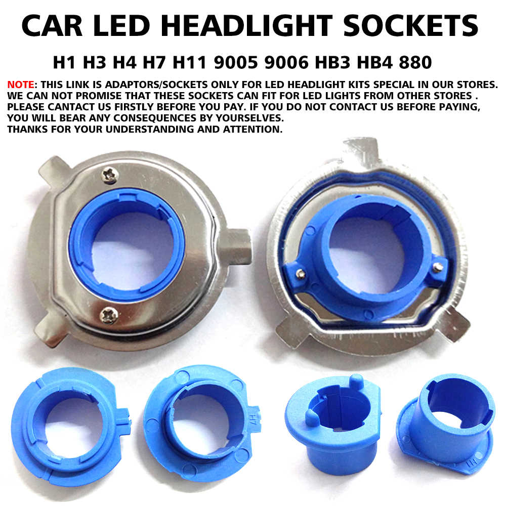 Car LED Bulb Base Clip Retainer Adapter Holder Sockets for H1 H3 H4 H7 H11 9005 9006 HB3 HB4 880 Headlight Special In Our Store