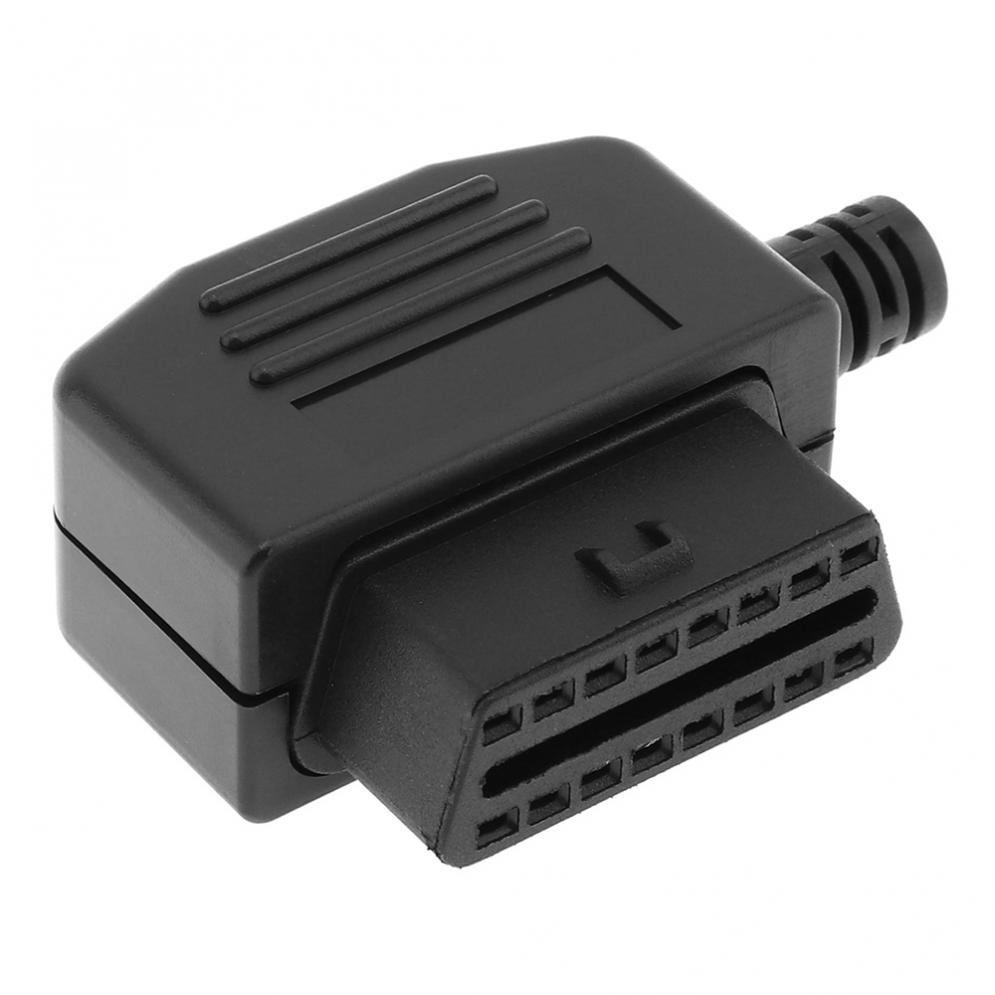 obd ii l type black 16 pin female car connector wire. Black Bedroom Furniture Sets. Home Design Ideas