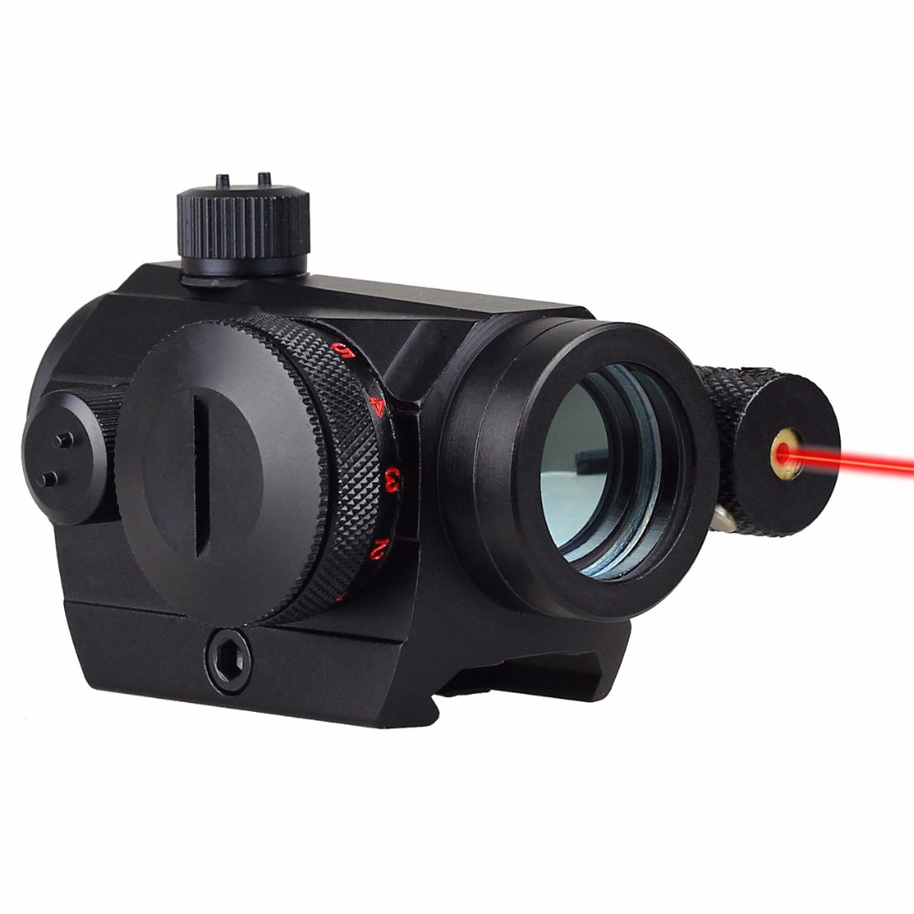 VERY100 Combo 1 x 20 Red/Green Dot Scope Sight w/ Red Laser Fit Picatinny/Weaver Mount free shipping xl nxf rg 5mw green laser gun sight w weaver mount led flashlight black 3 x cr 1 3n