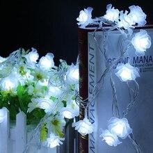Светодиодный светильник Love Rose, 4 м, 20 светодиодный ночник, с розами, с европейской вилкой, 220 В, водонепроницаемый, вечерние, свадебные, рождественские украшения