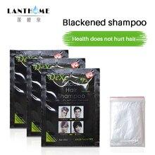5 шт./лот, черный шампунь для волос, всего 5 минут, серая краска для удаления волос, окрашивание волос, становится черной быстрой маской для волос, краска, мелки