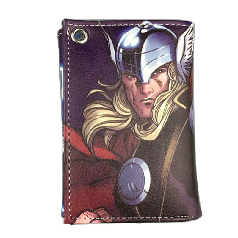DC Comics The Avengers Marvel Thor Wallet Cartoon Anime LOGO Printed Purse Super Hero Credit Card Holders Unisex Short Wallet