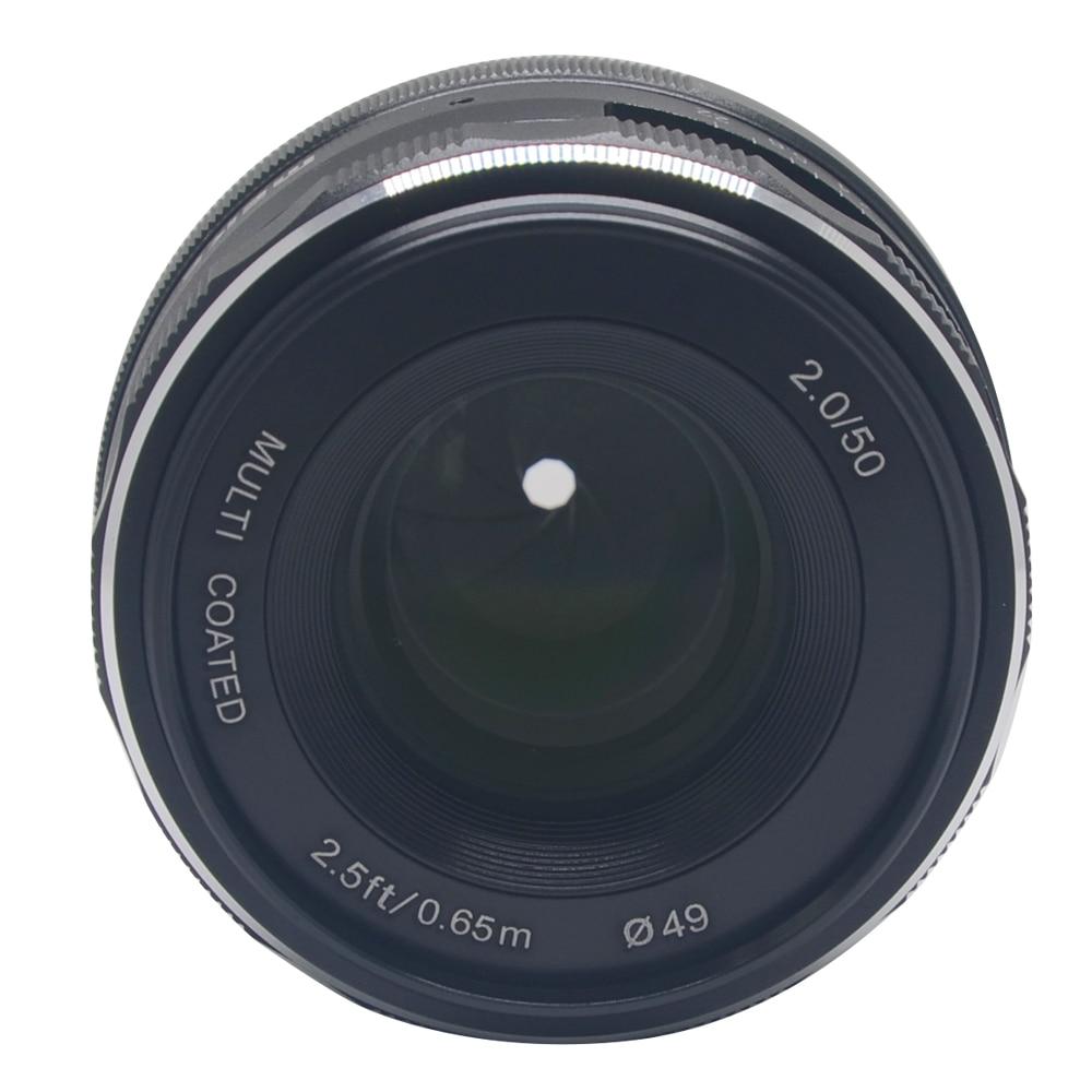 Mcoplus/Meike 50mm f 2.0 lens Large Aperture Manual Focus lens APS-C For Canon Eos M1 M2 M3 Mirrorless cameras 50mm f2 0 aperture manual focus lens aps c for eosm nikon1 m43 sony e mount nex3 5t 6 7 a5000 a6000 a6300 fuji xt1 camera