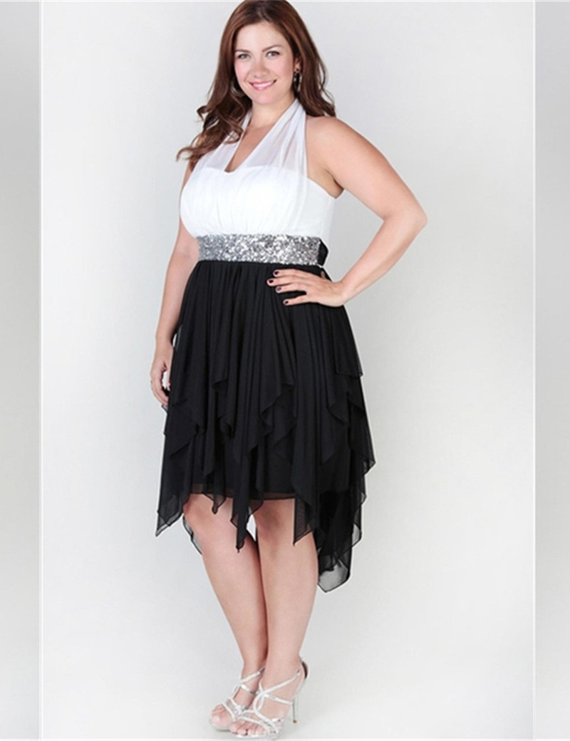 Großzügig Black And White Cocktail Dresses Plus Size Fotos ...