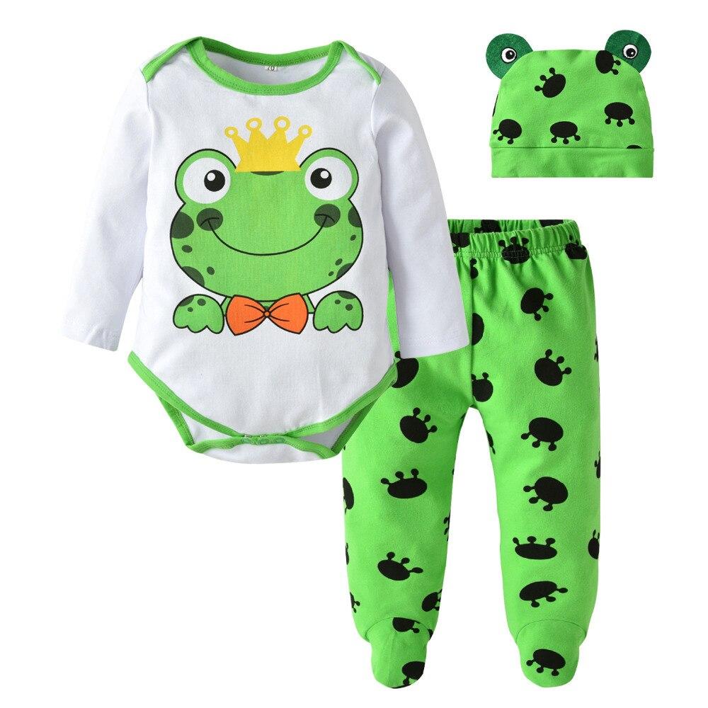 Autunno del bambino del ragazzo e una ragazza vestiti neonato rana