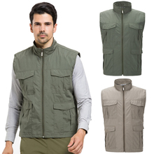 Mountainskin 4XL Men's Spring Quick Dry Waterproof Vest Outdoor Sport Sleeveless Jackets Hiking Fishing Camping Male Coats VA130