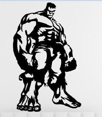 The Advengers Wall Sticker The Hulk American Movie Anime ...