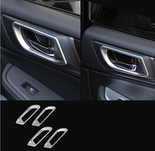 Absクロームマットシルバーインナー用ドアハンドルトリム奥地カバー装飾ボックスリング2015 YT-73004-1