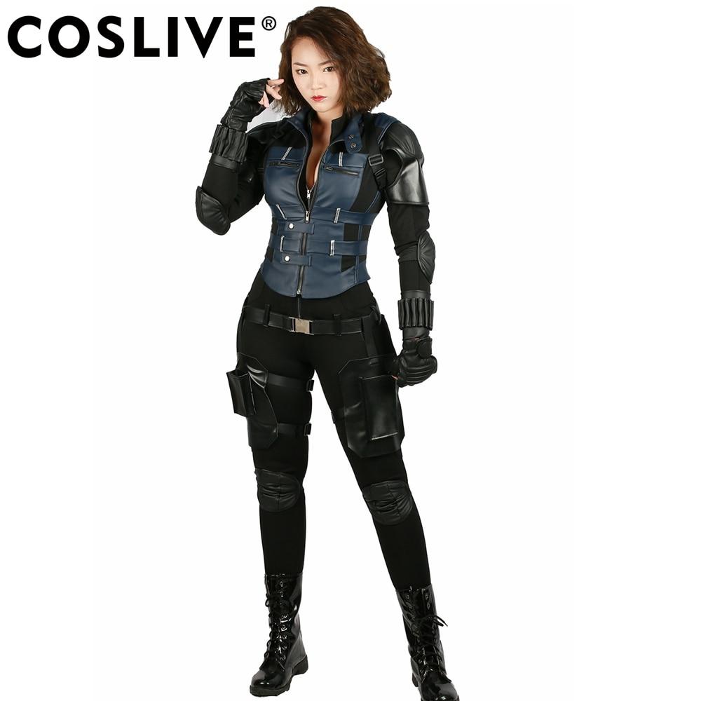 XCOSER Avengers: Infinity War Cosplay Black Widow Conjunto completo - Disfraces
