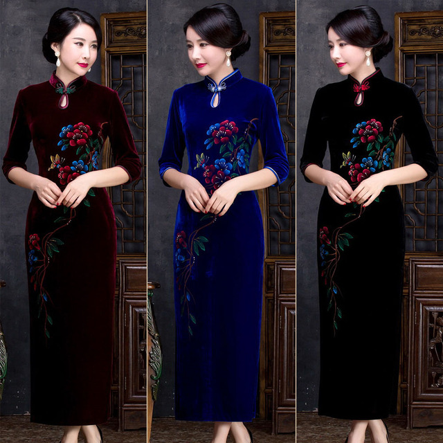 Retro Dressing Gown Traditional Chinese Clothes For Woman Quality ...