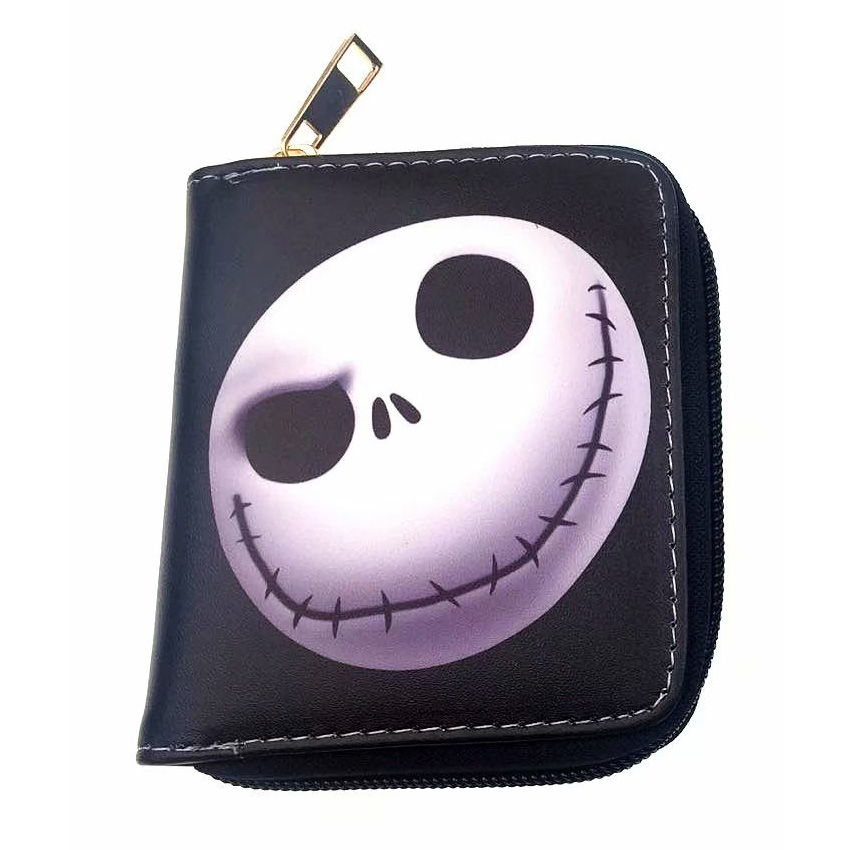 Anime The Nightmare Before Christmas Wallet Mini Card Holder Zipper Poucht Coin Pocket Gifts Kids Leather Purse Coin Key Wallets kawaii girls wallets leather card holder purse with coin pocket zipper poucht gifts woman lady cartoon anime short wallet