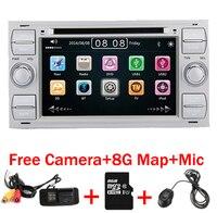 2 DIN 7 дюймов dvd плеер автомобиля для Ford Focus Kuga Transit с 3G GS Bluetooth Радио RDS USB SD рулевое управление Бесплатная Географические карты