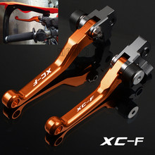 цена на For KTM 250/350/450/505 XC-F XCF XC F CNC Aluminum Motorcycle Motor Motocross Dirt Pit Bike off-road Pivot Brake Clutch Levers