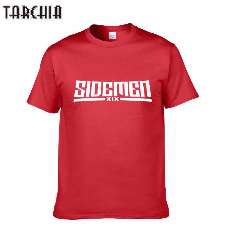 TARCHIA 2019 New Arrival Men's T-shirts SIDEMEN Print Fashion Casual Slim Fit For Mens Short Sleeve Hip Pop T-shirt Homme