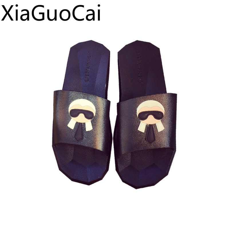 Brand Fashion Men Summer Slippers Fashion Unisex Indoor Bathroom Flat Slippers Slip-proof Summer Slides For Mens