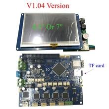 Dernière V1.04 Duet 2 Wifi mises à niveau carte de contrôle DuetWifi 32bit carte mère Duet WIFI W/4.3 «7» panneau contrôleur d'écran tactile