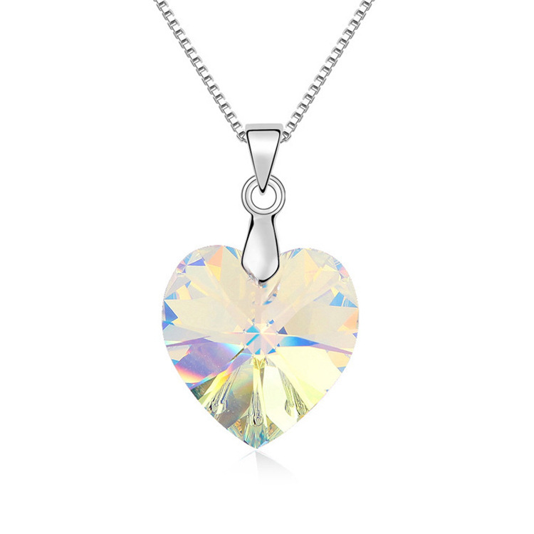 100 original crystal heart pendant necklace new arrival for 2016 100 original crystal heart pendant necklace new arrival for 2016 women gift no box free shipping in choker necklaces from jewelry accessories on aloadofball Images