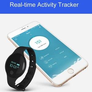 Image 3 - Fitness Tracker inteligentna bransoletka nadgarstek bluetooth passometer wiadomość przypomnienie o połączeniu kompatybilny dla android ios PkMi pasek