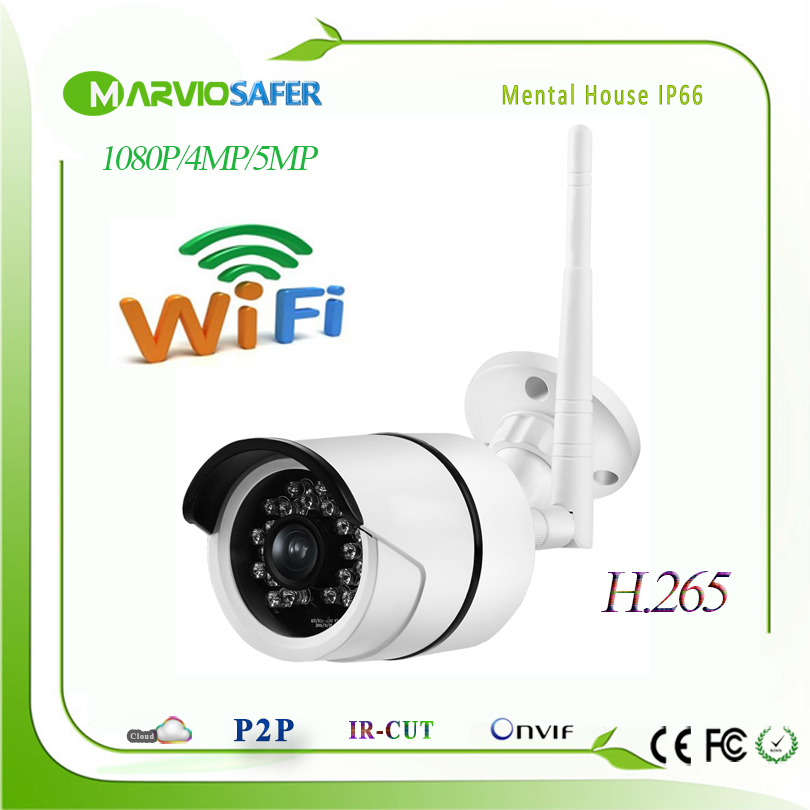H.265/H.264 4MP Full HD 1080P WIFI Bullet Outdoor IP Network Camera CCTV IPCam Onvif 2MP Cam Wireless CCTV Security Video System full hd 1080p 2 0mp 30fps mini ip camera onvif indoor ip camera metal camera onvif p2p ip cctv cam system h 265 h 264 5mp