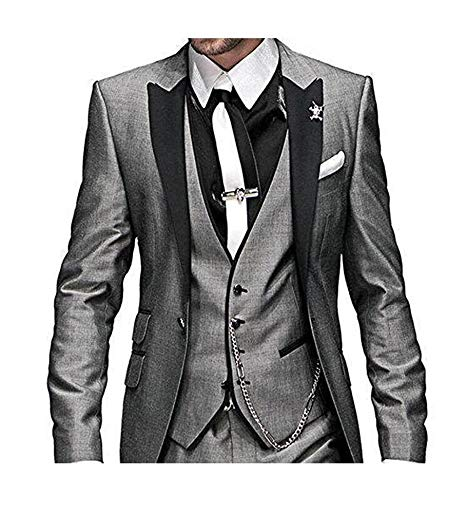 2019 Custom Slim Fit One Button 3 Pieces men suits for wedding Notch Lapel Men Suits groomsmen best man Tuxedo Straje Hombre