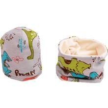 Коллекция года, весенний комплект для девочек, шапка, шарф, теплый плюшевый Комплект для мальчиков и девочек, шапка с воротником, детский шарф, детская шапка, шапочки, хлопковая детская шляпа, шарф