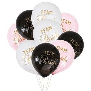 12pcs/lot 10inch Team Bride Latex balloons for Wedding & Engagement Supplies Bachelorette Party Air Balls Bridal Shower Dec