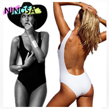 NINGSA 2017 Sexy  One Piece Swimsuit Backless Swim Suit for Women Swimwear Low cut Back   Bathing Suit Swimwear Female Monokini