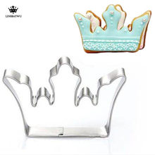 Premium Stainless Steel Princess Crown King Queen Party Cookie Cutter Cake Biscuit Baking Tool Mold Baking Tools For Cakes(China)