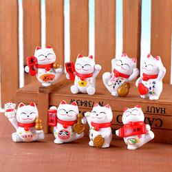 ZOCDOU Милая керамика Кот японский стиль котенок украшение домашний декор Прекрасный Kitty дисплей подарок на день рождения стол китайская
