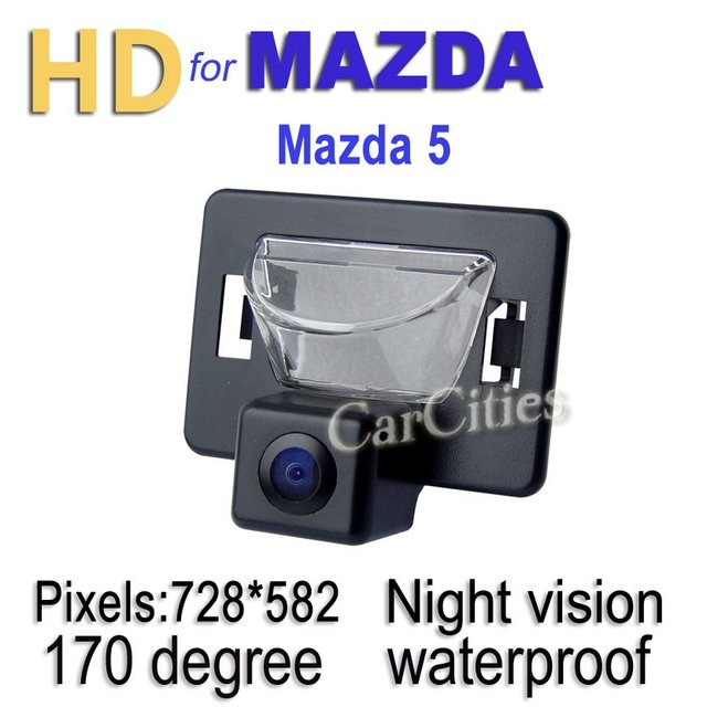 CCD rearview camera170 degree for Mazda 5 Waterproof Shockproof Night version Size:75*63*53.5mm Drop Shipping
