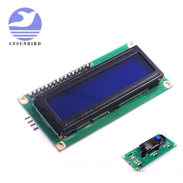 10個LCD1602 + I2C 1602シリアルブルー/グリーンバックライトlcdディスプレイ2560 uno avr iic/I2C