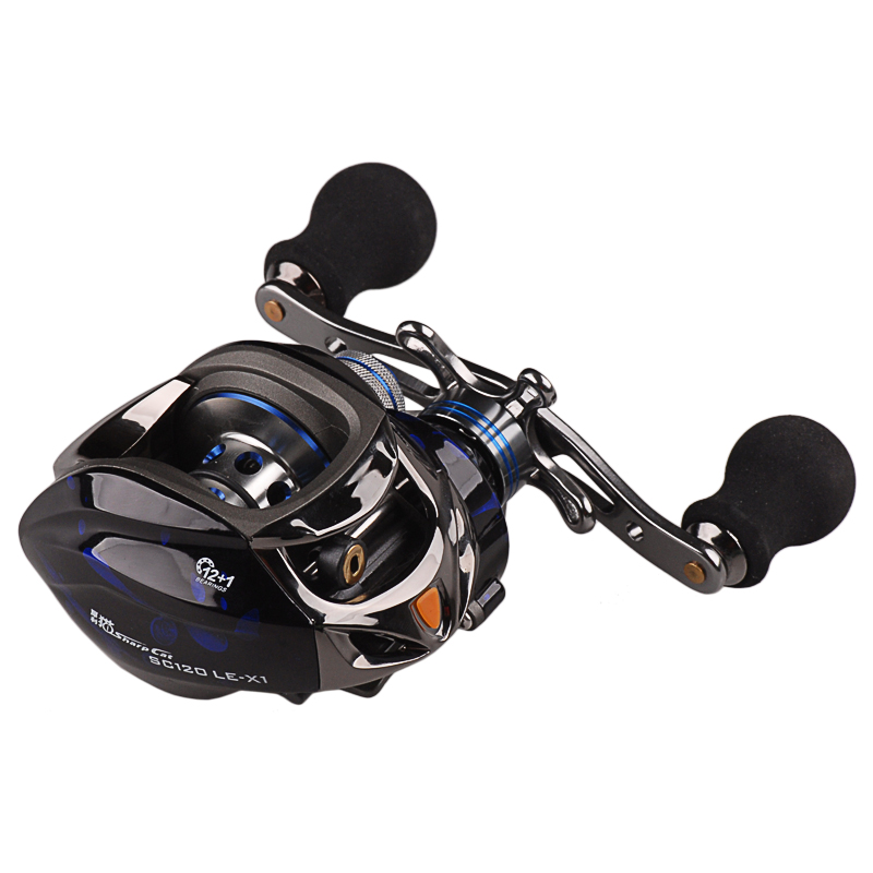 Baitcasting Fishing Reel 12+1BB 6.3:1Gear Ratio R/L Handle Round Baitcast Reels Lure Wheel Molinete Pesca Peche Carretilha Coil free shipping by ems fishing reels baitcasting reel daiwa megaforce ths gear ratio 7 3 1 six ball bearings right