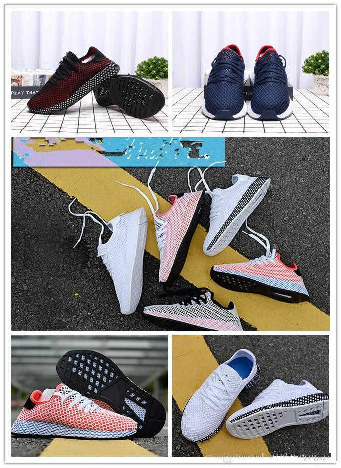 db724a498f4 New Top Fashion 2019 Deerupt Runner Women Mens black red white Running  Shoes Sports Sneakers CQ2624